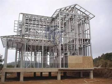 广东深圳观湖园别墅轻型钢结构工程
